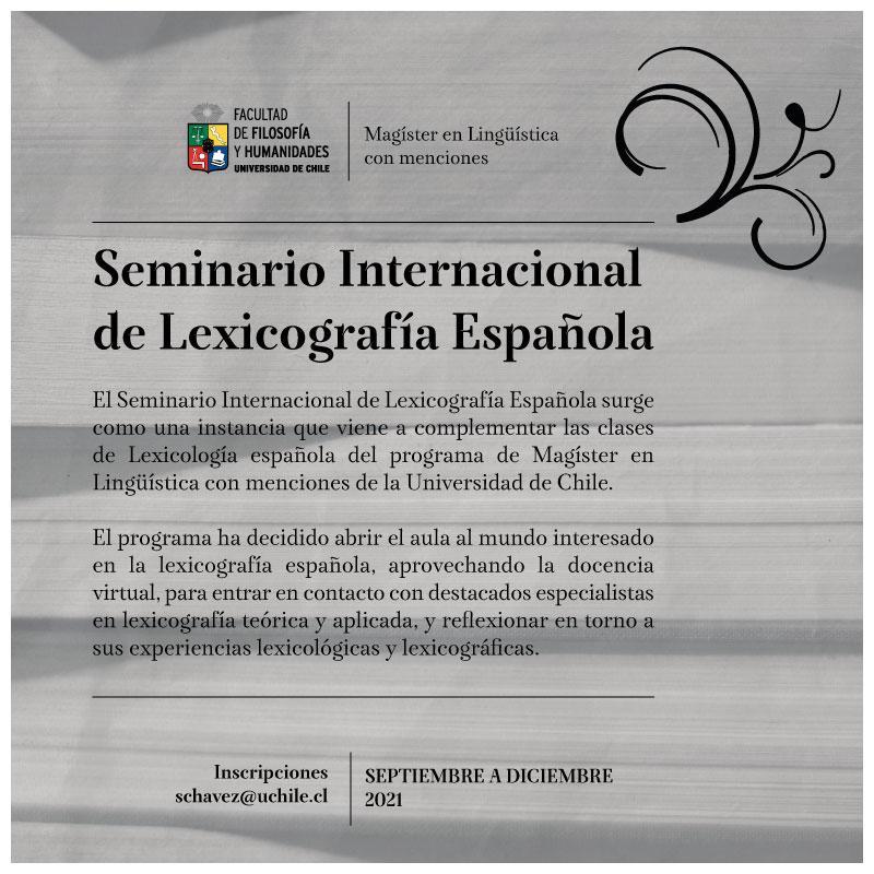 Seminario Internacional de Lexicografía Española